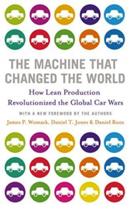 Book cover of Machine that Changed the World (James P. Womack & Daniel Jones)